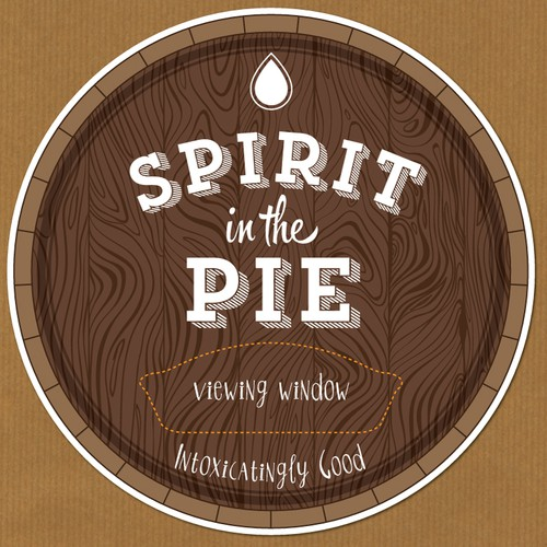 Concept of label for pies