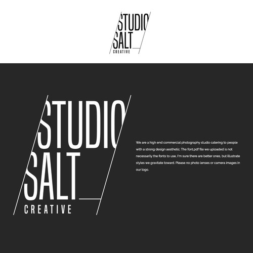 logo design for studio salt creative