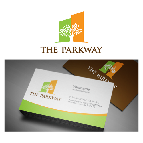 logo and business card for The Parkway