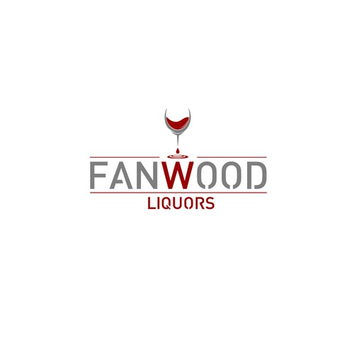 Liquors store logo.