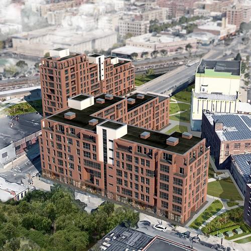 3d rendering of apartment buildings