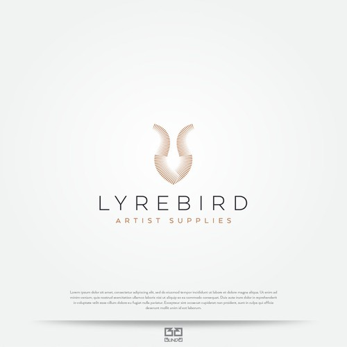 Lyrebird inspired logo