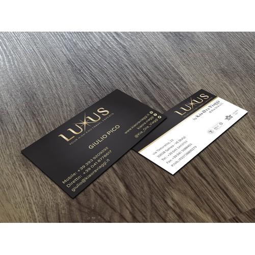 Luxus business card&logo design