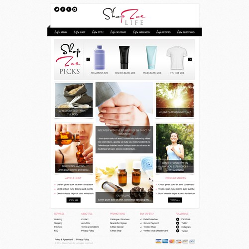 Health, Beauty, and Fashion Blog and E-commerce Site