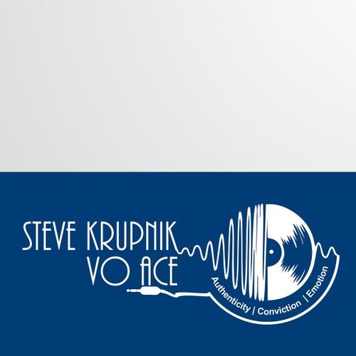 identity design for steve krupnik - voice artist