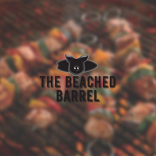 Logo concept for BBQ beach restaurant