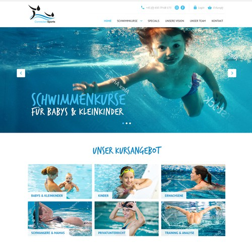 Web design for Swimming Lessons/Schools