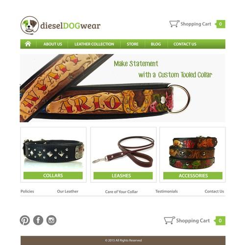Improve a web page for a dog loving company