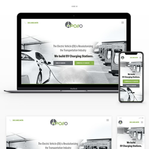 Webdesign for Tesla contractor company