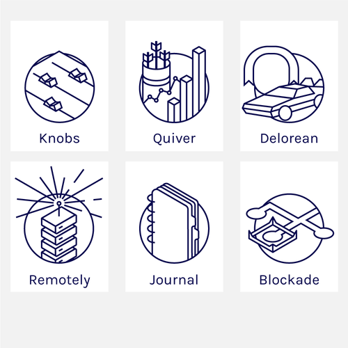 Illustrated icons for Verizon labs