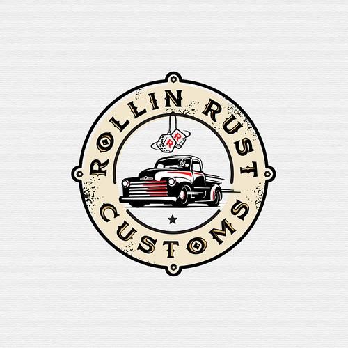 create classic vintage logo for hot rod restoration company