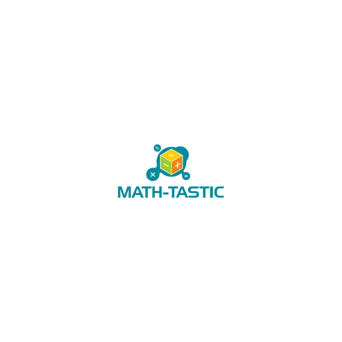 created math concept with box
