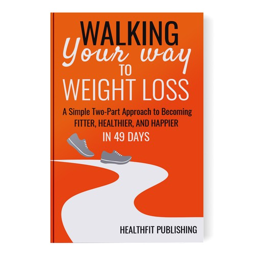 Book Cover Design for Walking Your Way to Weight Loss