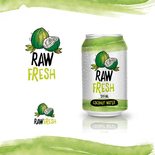 Raw Fresh Coconut Water Logo