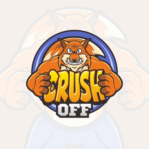 logo for crush off