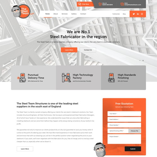 The Steel Team Website