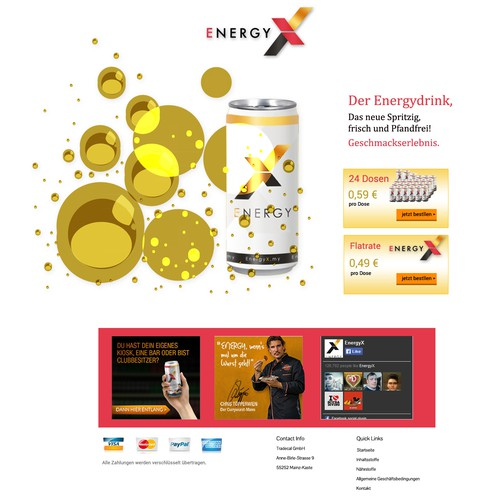 Website for Energy Drink