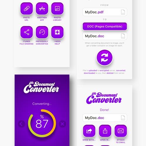 The Document Converter App Design
