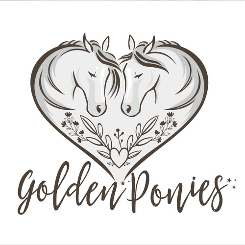 Feminine logo for horse lover