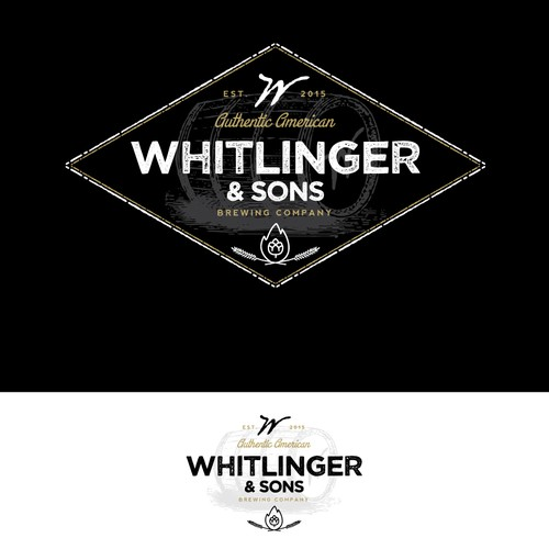 Startup Craft Brewery Logo - Whitlinger & Sons