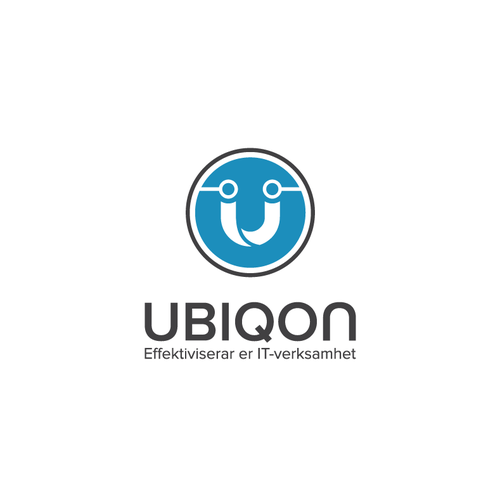Bold logo concept for Ubiqon, IT Consulting Company