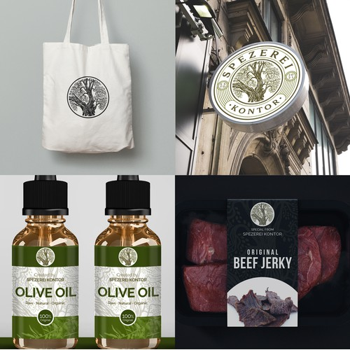 tree logo for speciality food and non food shop