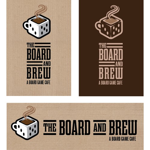 "Create a logo for a ""board game cafe"""