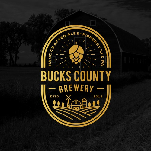 logo concept for Bucks County Brewery