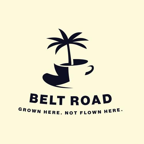 Logo concept for a Hawaiian coffee company