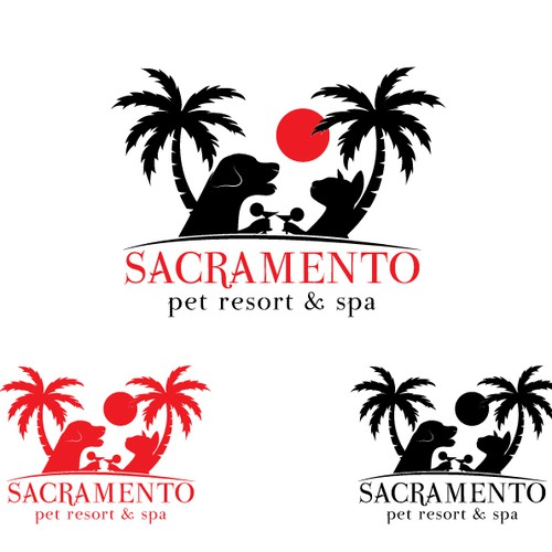 Create a fun resort type logo for our Pet Resort & Spa