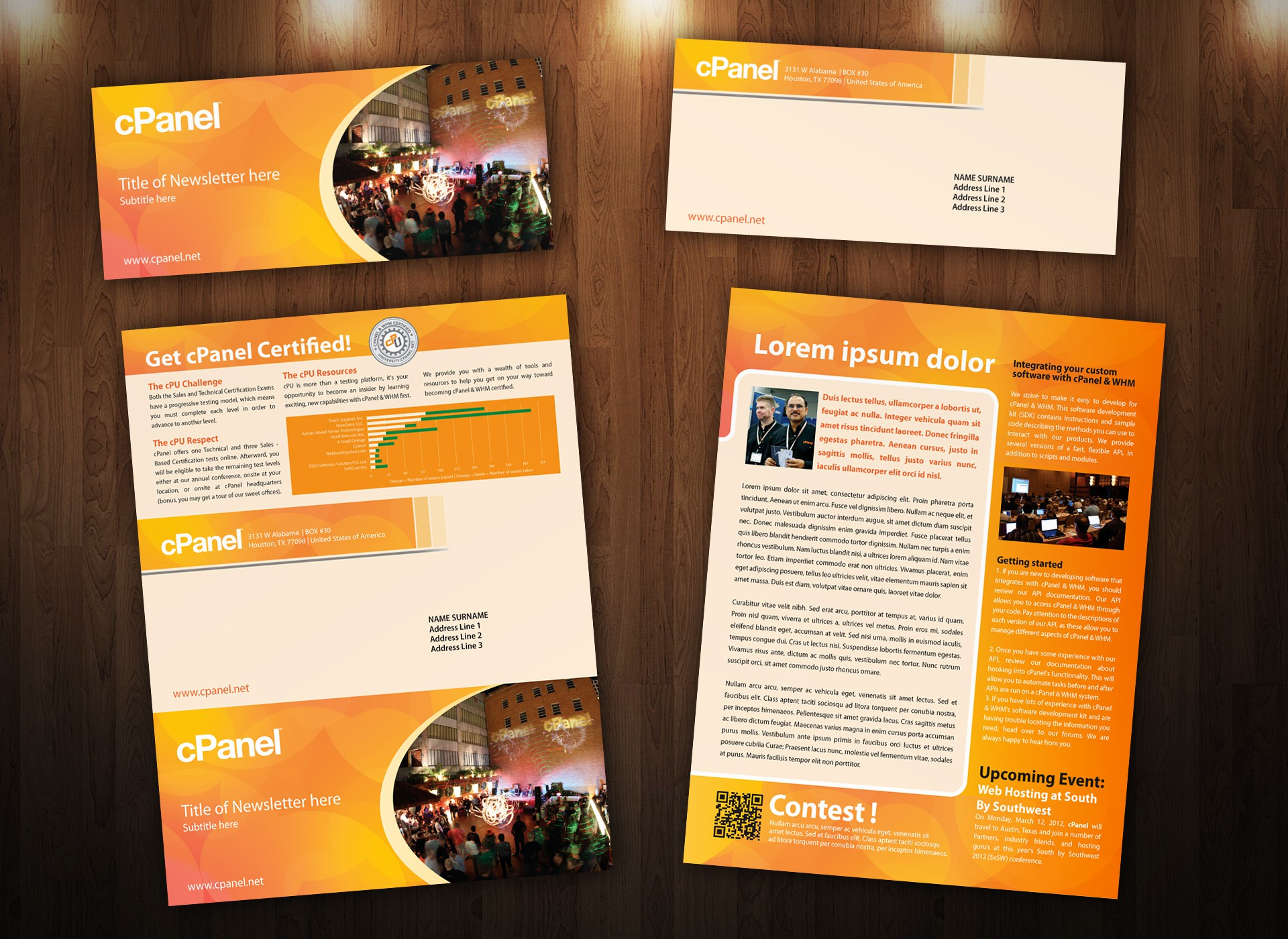 Help cPanel Inc with a new brochure design