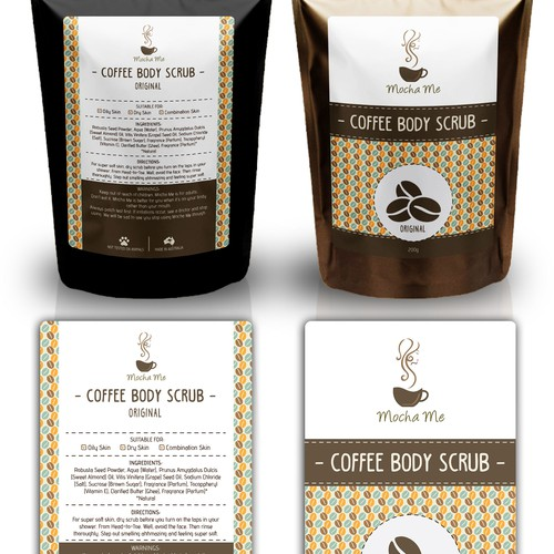Product Label Concept for Mocha Me :)