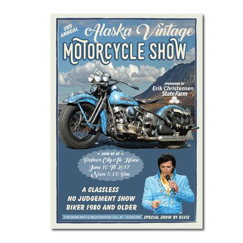Alaska Vintage Motorcycle Show poster!