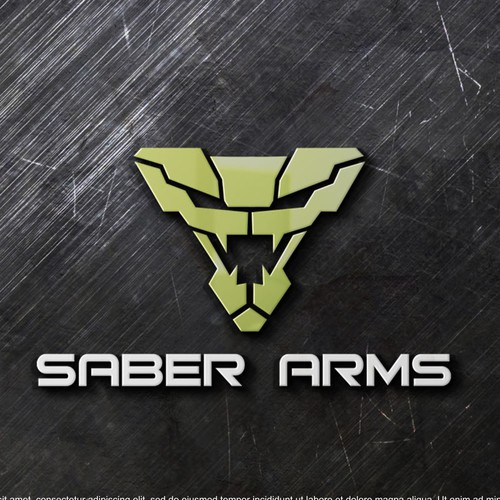 Simple and strong snake head logo for Saber Arms Company