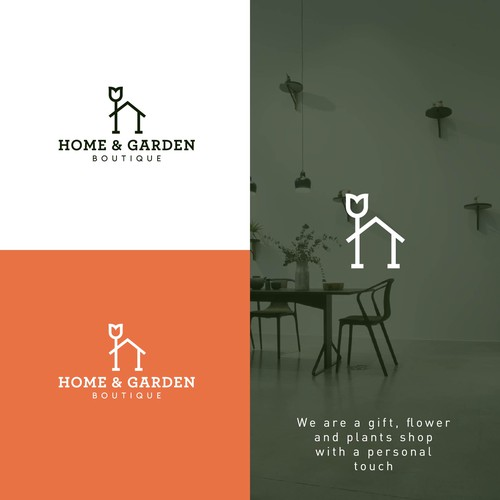 Logo for home & garden Boutique