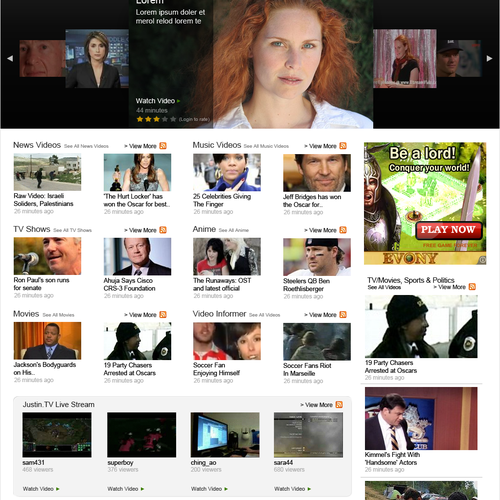 Video Search Engine Website Homepage Redesign (JUST PSD!)