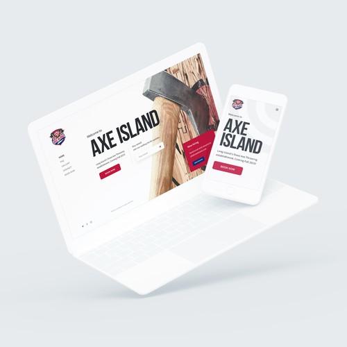 Axe Island Website