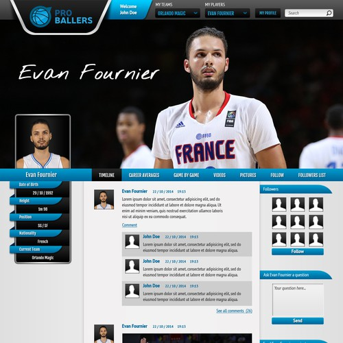 A social network for NBA players (and ballers from other leagues...)