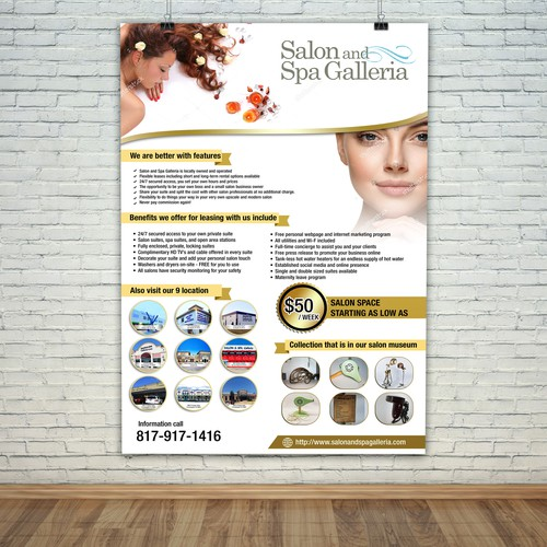 Poster For Salon and Spa Gelleria