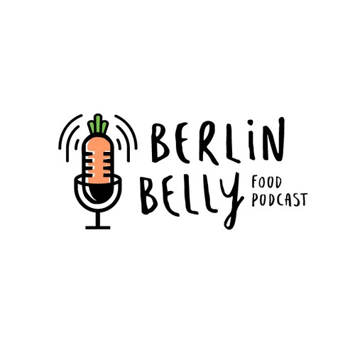 Unique food icon logo for a Berlin food podcast