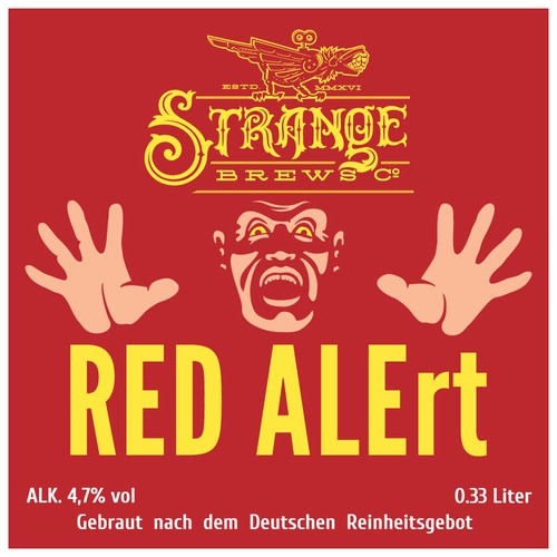 RED ALErt beer label