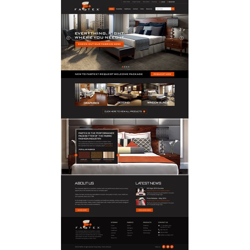 Home page design for Fabtex