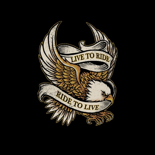 Bald Eagle for motorcycle T-shirt