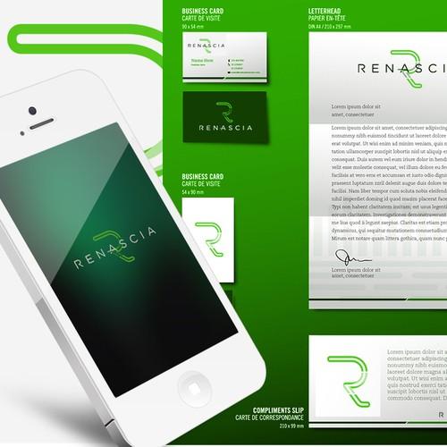 "Logo proposal #1 for ""Renascia"""