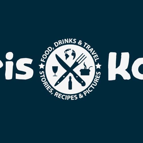 Logo design for food and travel blog