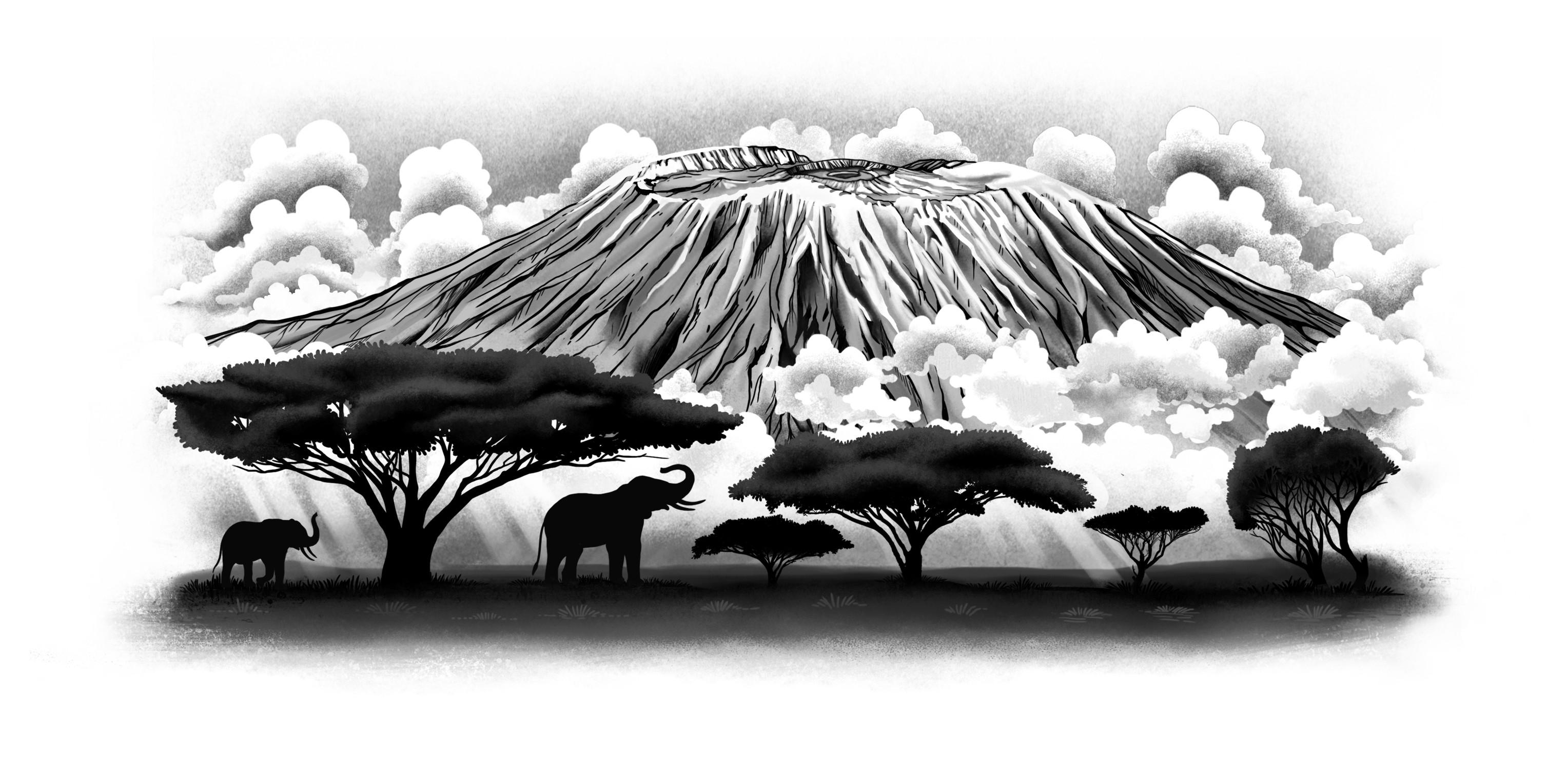 Mount Kilimanjaro tattoo