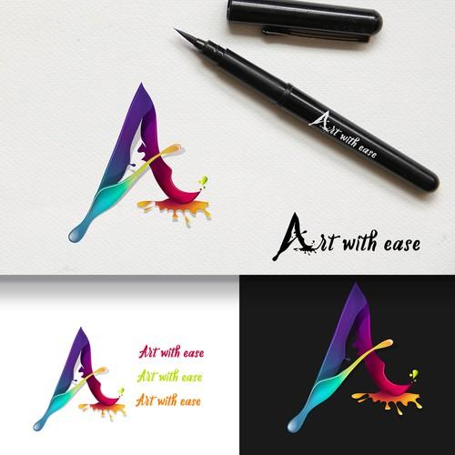 Logo concept for art supplies.