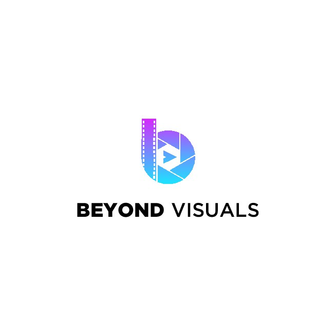 (PLEASE IGNORE BACKGROUNDS) creative,modern,clever logo for  'Beyond Visuals' a commercial videography company