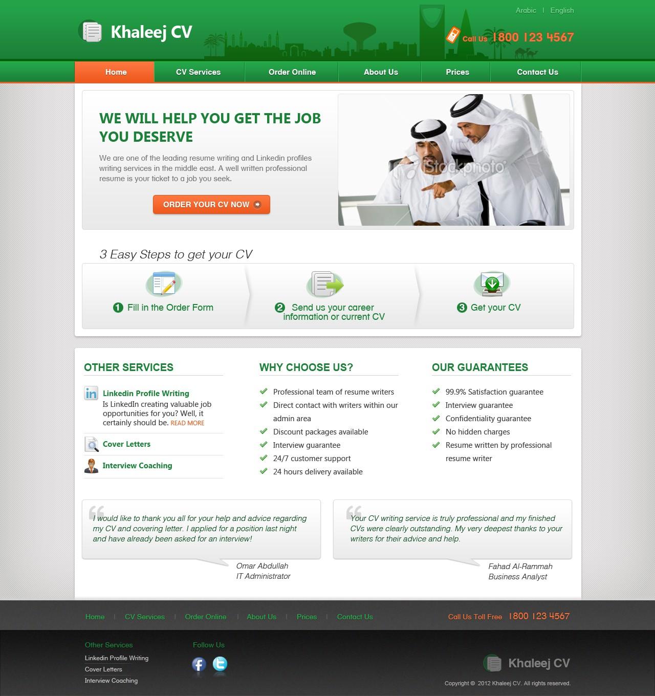 Website DESIGN for CV writing service! Guaranteed :)