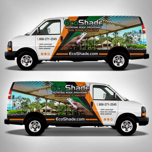 Design a Van Wrap for EcoShade in Hawaii!